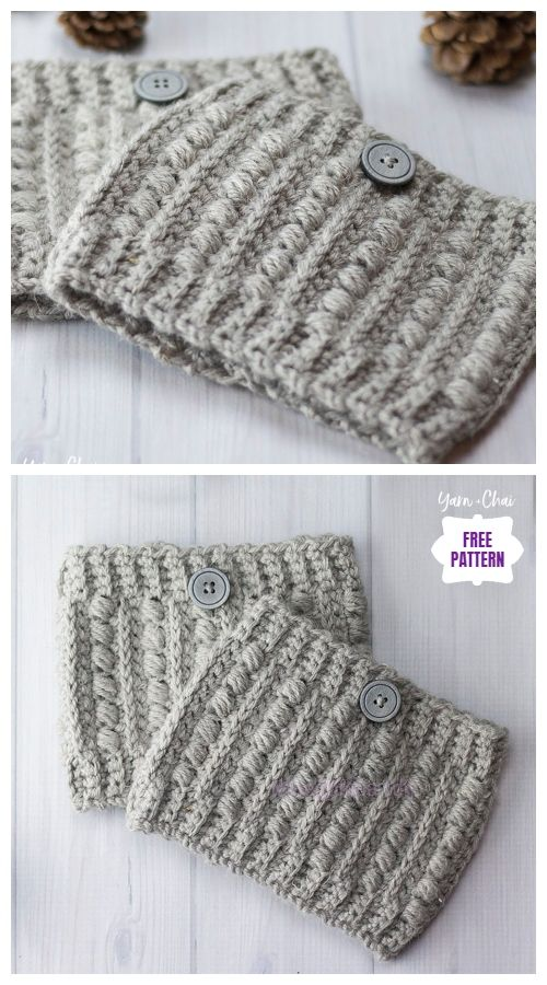 DIY Free Crochet Boot Cuffs Patterns #bootcuffs