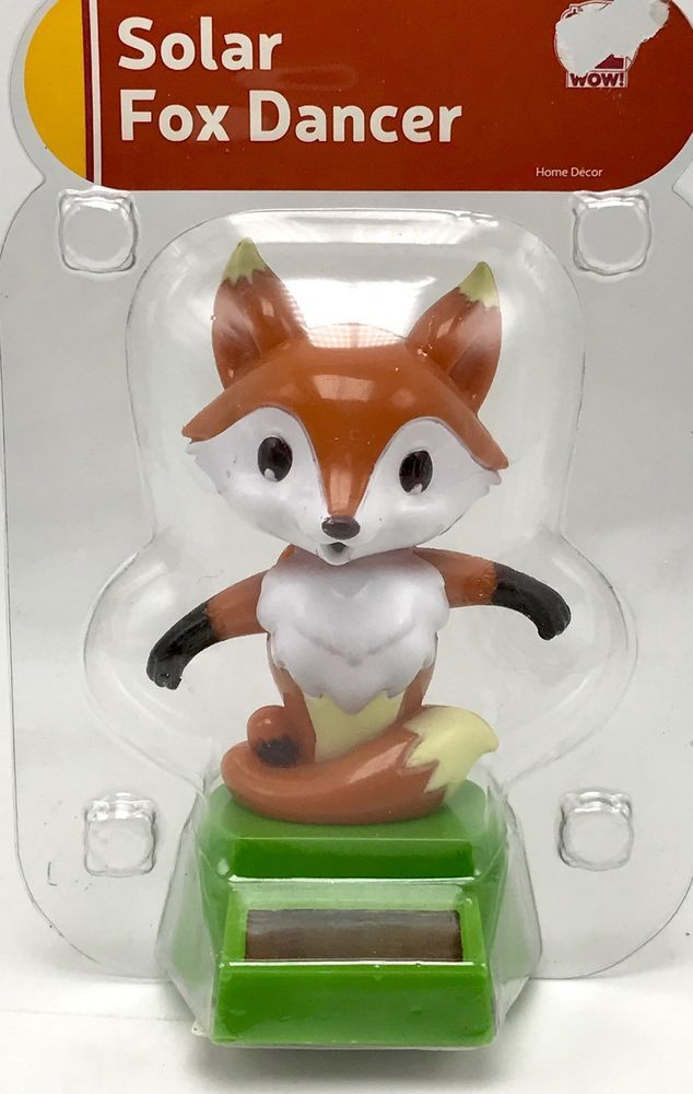 Solar Powered Dancing Fox Animated Bobble Swing New Unbranded Solar Powered Toys Solar Power Dancing Toys