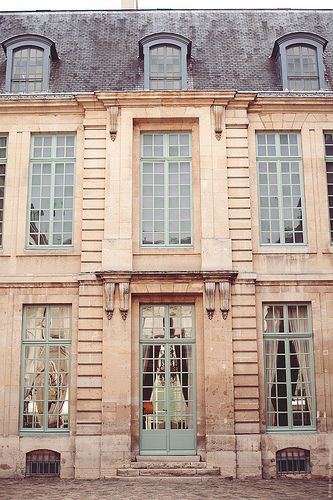 The Marais Arrondissement was abandoned after the war and until the past 3 decades has come into its own. The buildings have remained much as they were.