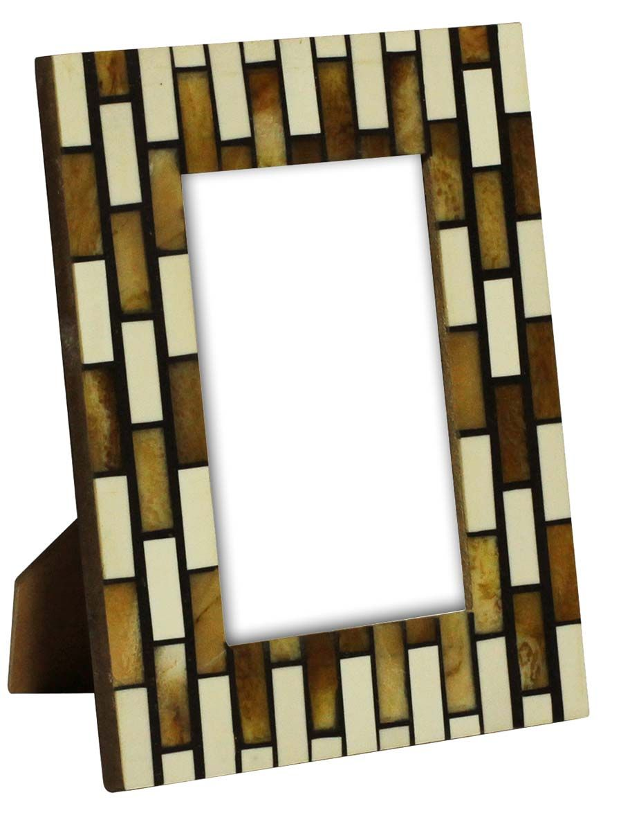 "Bulk Wholesale 8.4"" Rectangle-Shaped White & Brown Color Photo F ..."