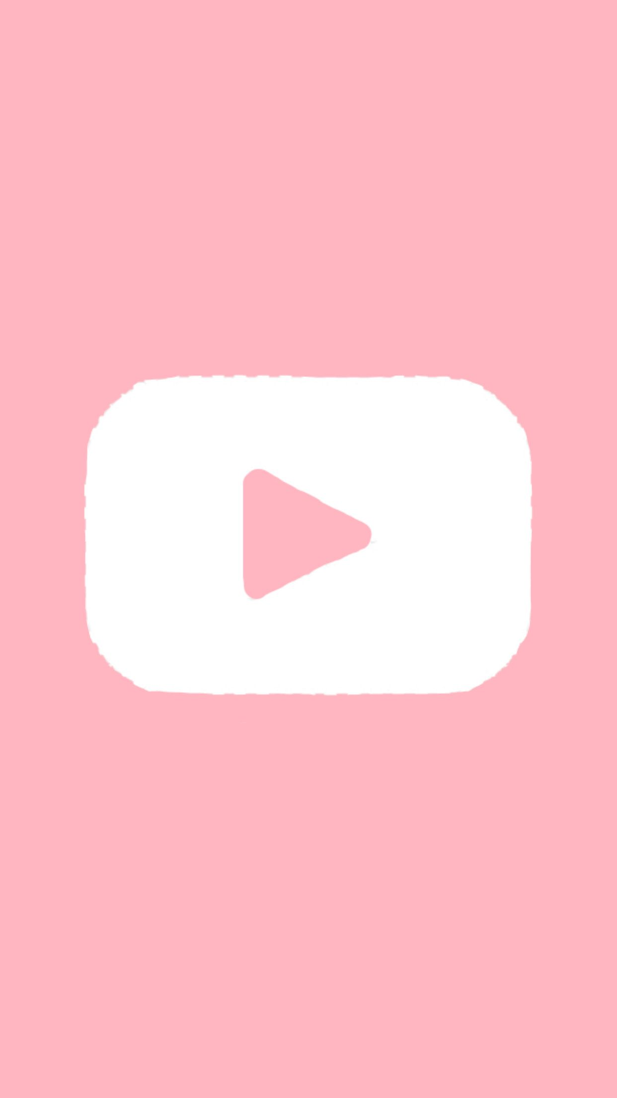Youtube Logo Pink White Freetoedit Ios App Icon Design Iphone Photo App App Icon