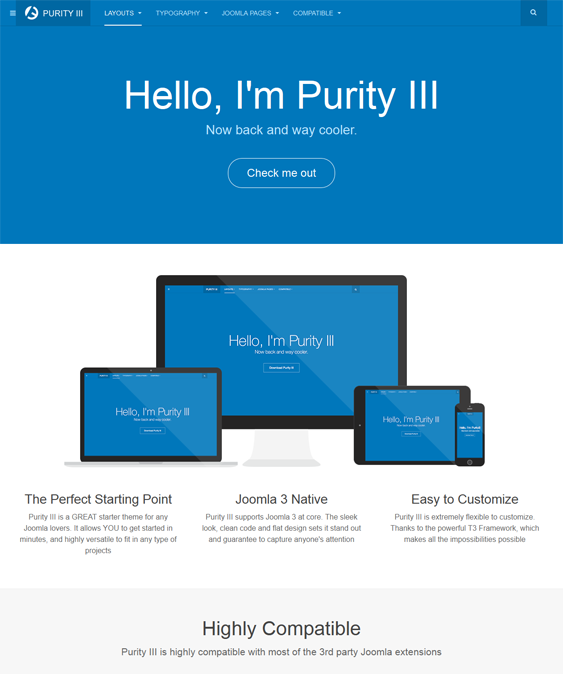 This free MijoShop Joomla template features a clean design