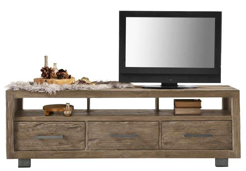 Antiek Grenen Tv Kast.Tv Dressoir Alezio Pine Antique Grey Prontowonen Droomwoonkamer