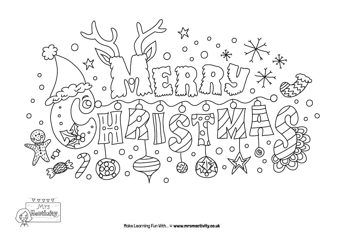 Christmas Mindfulness Colouring Mrs Mactivity Christmas Coloring Cards Free Christmas Coloring Pages Christmas Coloring Sheets