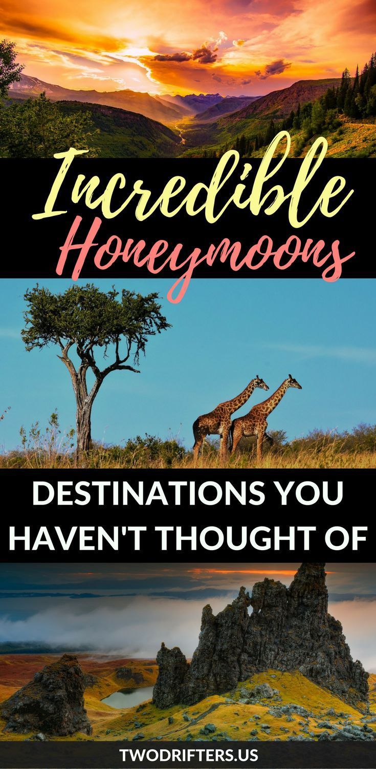 #Honeymoon ideas. #CouplesTravel #RomanticGetaway --  Looking for a unique honeymoon destination? These are honeymoons for the well-traveled couple seeking romance with a side of adventure.