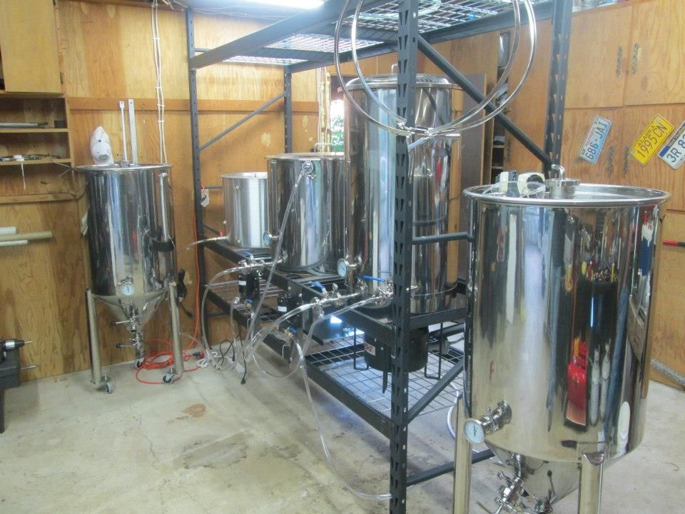 Homebrew System Displayed On A Homemade Skid Mount Home Brewing Equipment Home Brewing Brewing Equipment