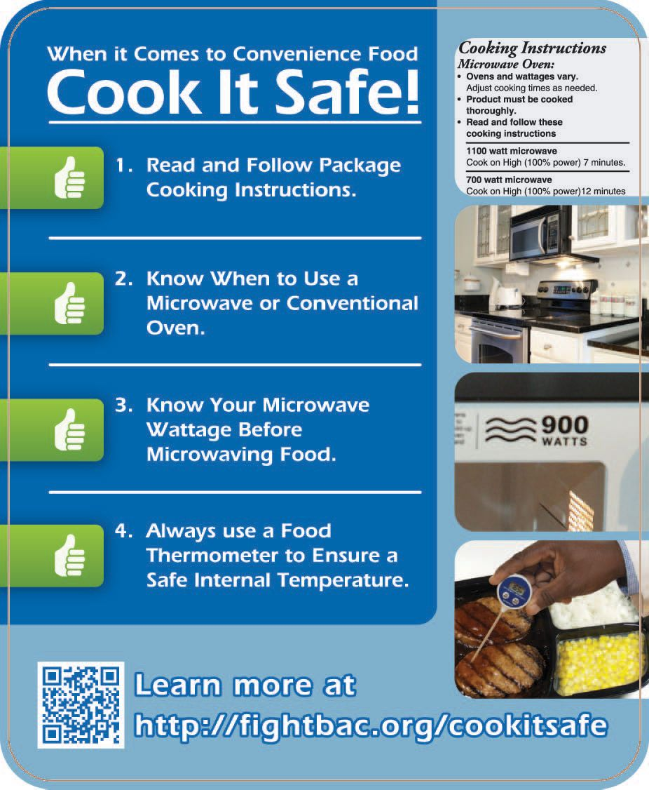 Food Safety Temperature Poster Cook It Safe Partnership For Education