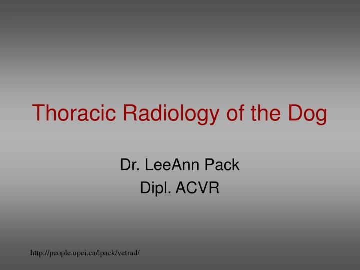 Thoracic Radiology Of The Dog Radiology Aortic Stenosis And