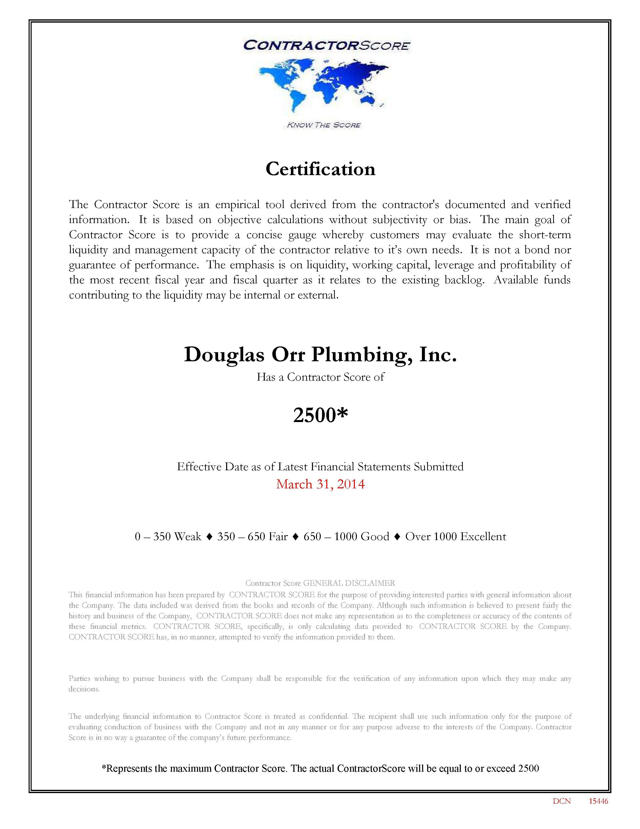 Douglas Orr Plumbing Contractor Review Rating We Aced It Plumbing Contractor Plumbing Contractors