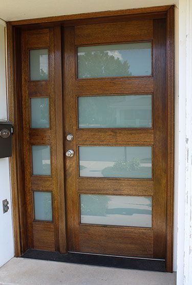 Modern Mahogany Wood And Glass Exterior Doors Customize And Buy