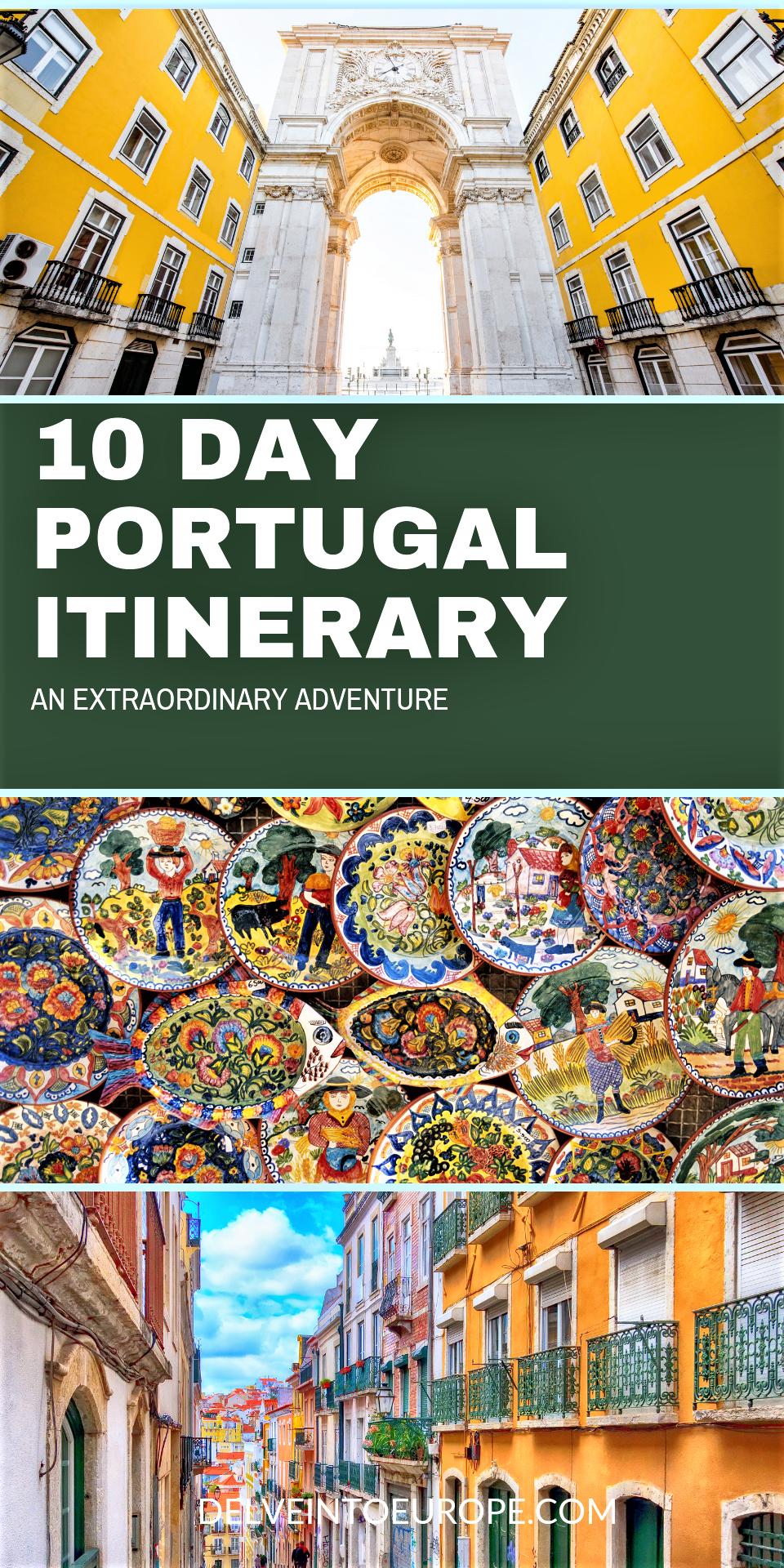 10 Day Portugal Itinerary  #lisbon