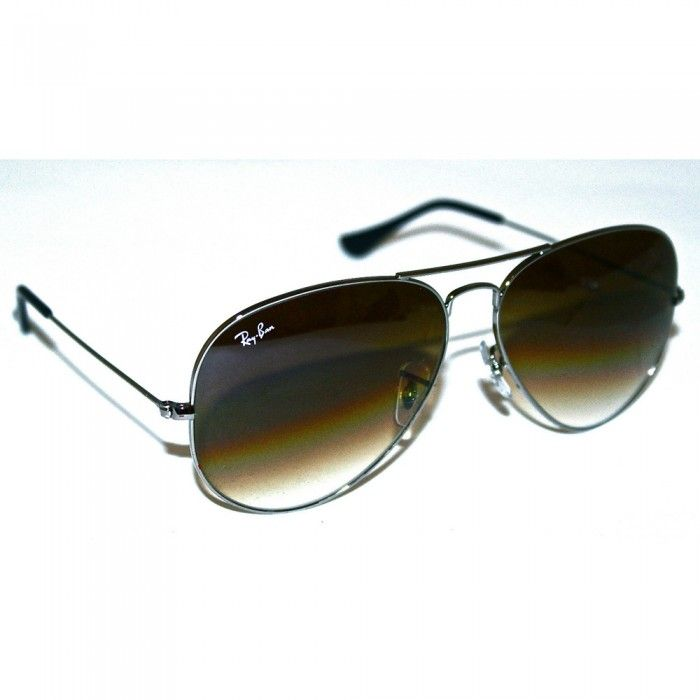 Ray-Ban Sunglasses Mens Aviators | RB3025 | 004/51 | Brown Gun Metal ...