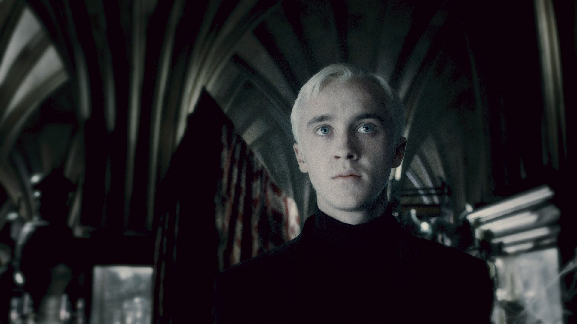 """Tom Felton as """"Draco Malfoy"""" in Harry Potter and the Half"""