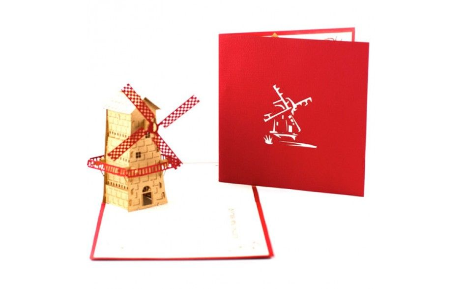 A kirigami handcrafted greeting card featuring a windmill inside a kirigami handcrafted greeting card featuring a windmill inside greetings from holland size m4hsunfo