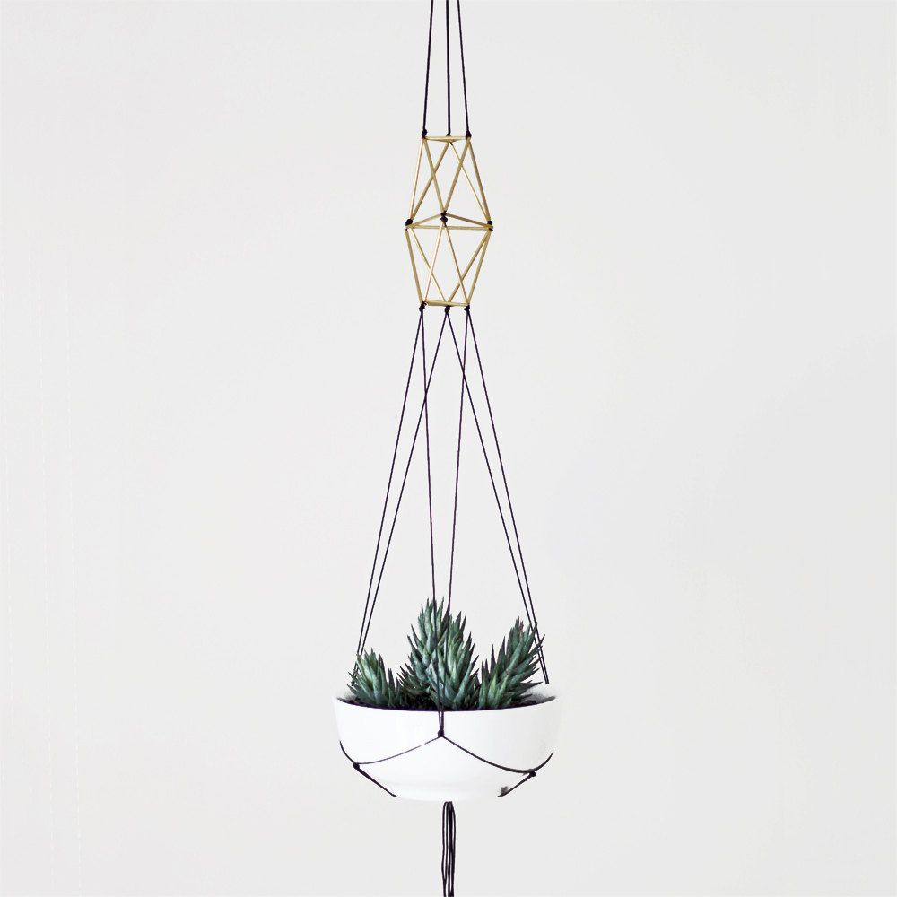 brass himmeli plant hanger no 1 hanging planter macrame