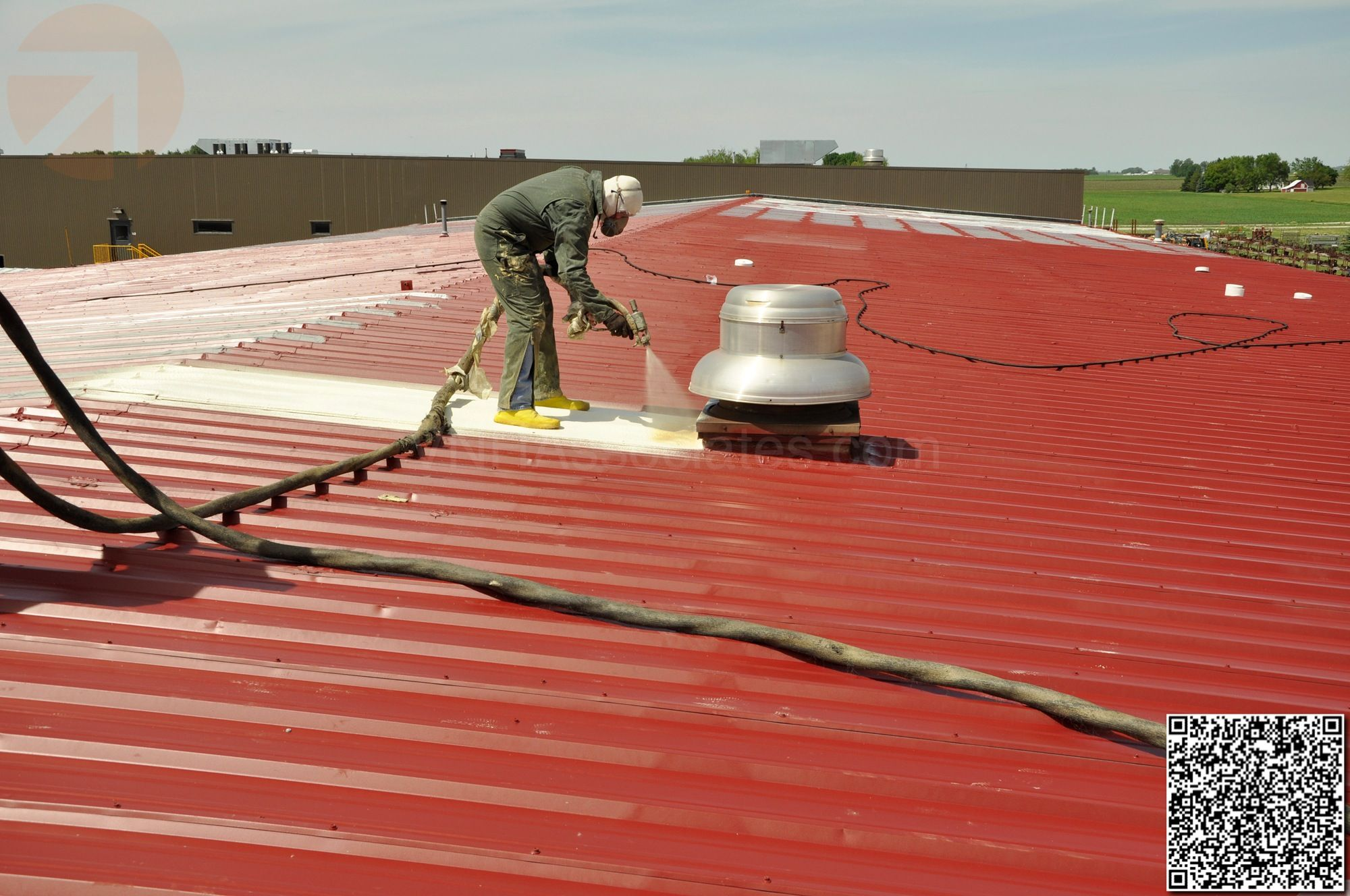 Conklin Elastomeric Foam Membrane White Roof Products And Installation Photos Installation Photo Membrane