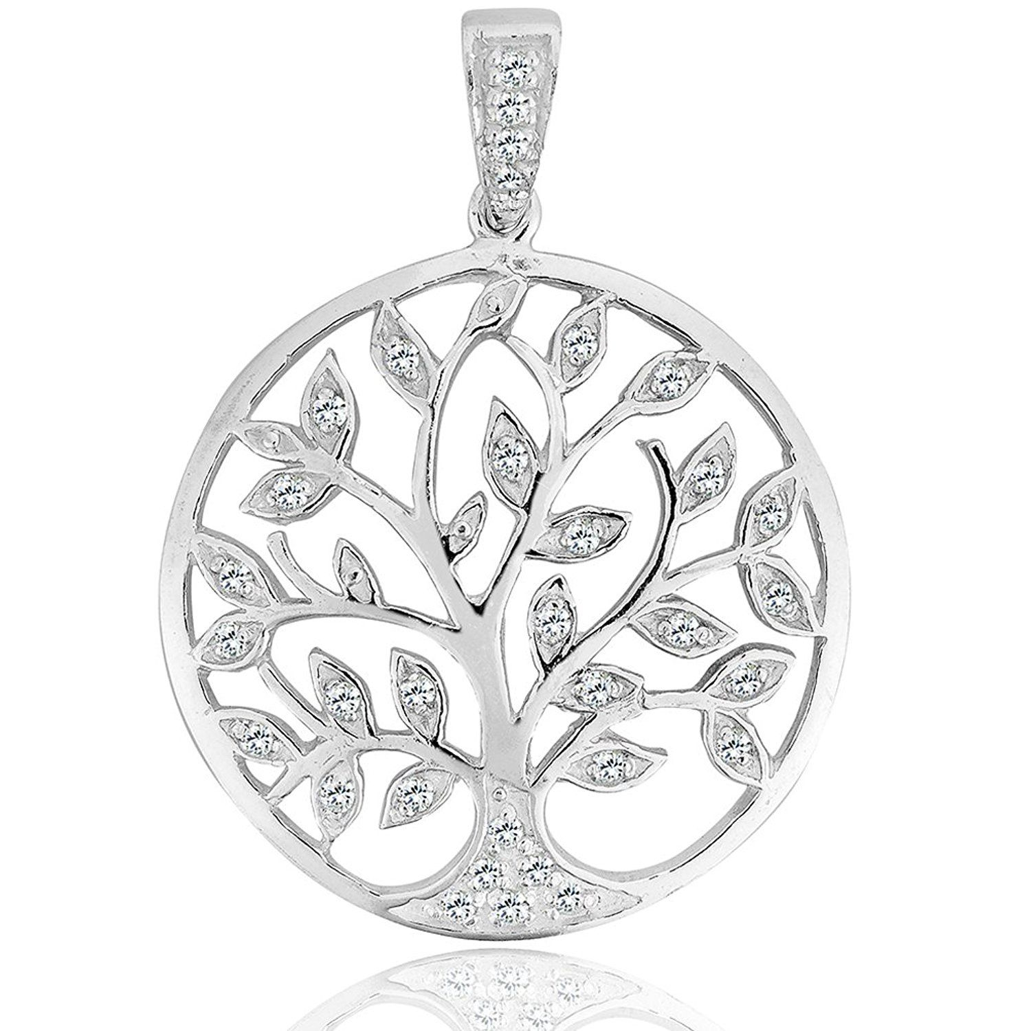 DTPsilver - 925 Sterling Silver Earrings Celtic Tree of Life Design IZ5ugbey