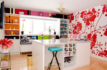Bright And Beautiful Craft Room By California Closets Of Indianapolis