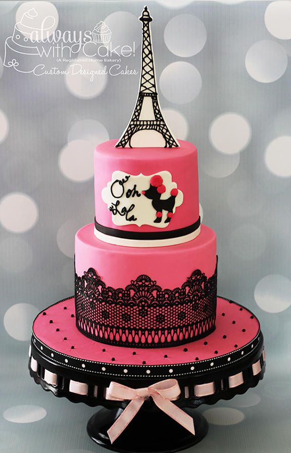 Outstanding Pink Poodle In Paris Beautiful Birthday Cakes Paris Themed Funny Birthday Cards Online Aeocydamsfinfo