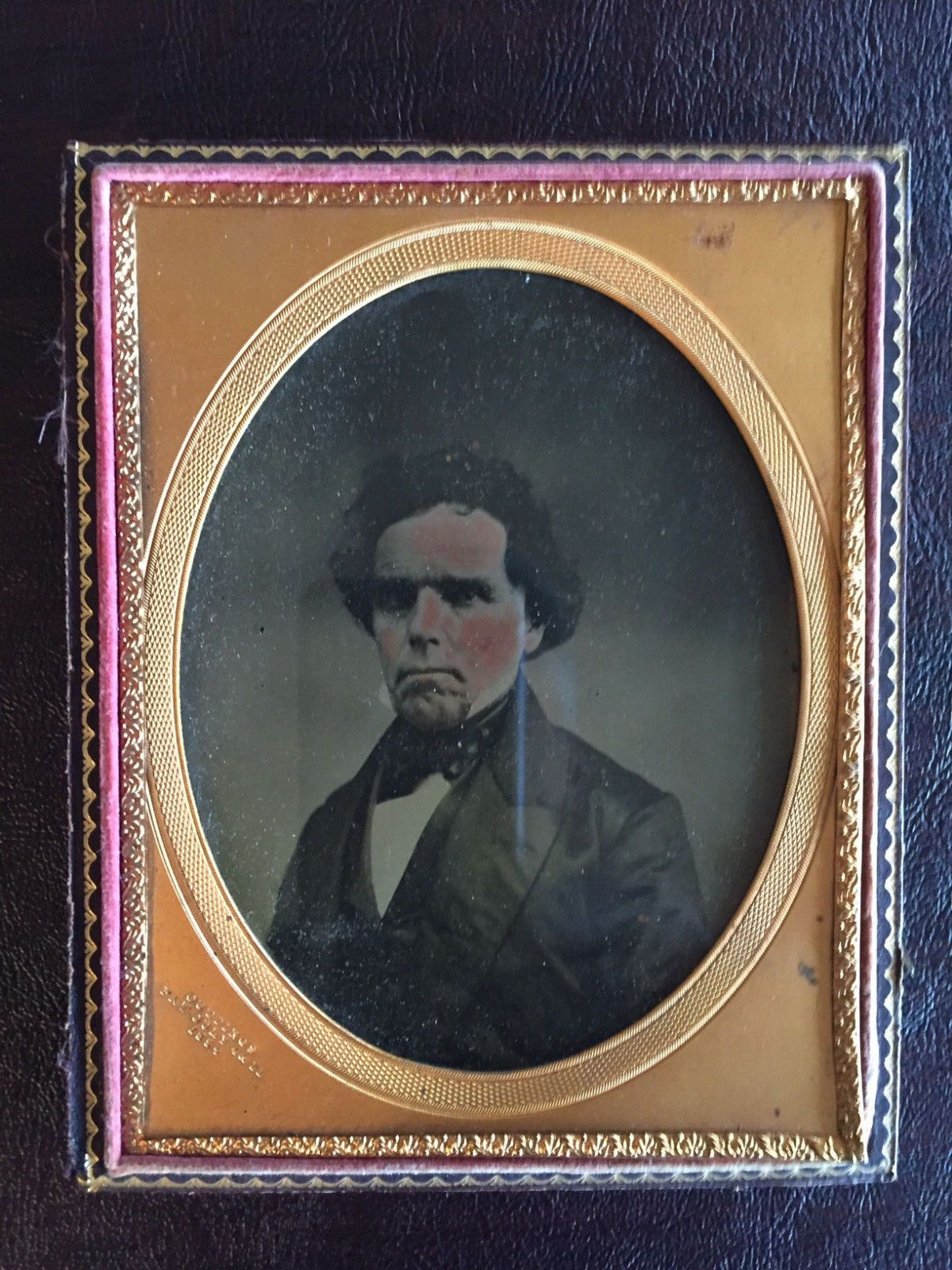 Rare 1850s Color Ambrotype Stern Gentleman Resembles Daniel Webster | eBay