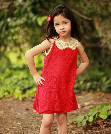 df4e20d0 Look what I found on #zulily! All That Glitters Red Dress - Toddler & Girls  #zulilyfinds