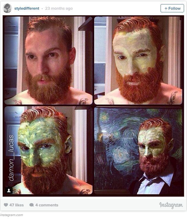 Halloween Makeup Ideas Halloween makeup, Van gogh and Porcelain doll - halloween costumes with beards ideas