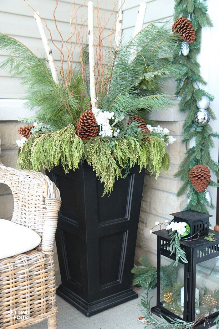 Urn Decor Prepossessing Neutral And Elegant Christmas Home Tour  Christmas Urns Elegant 2018