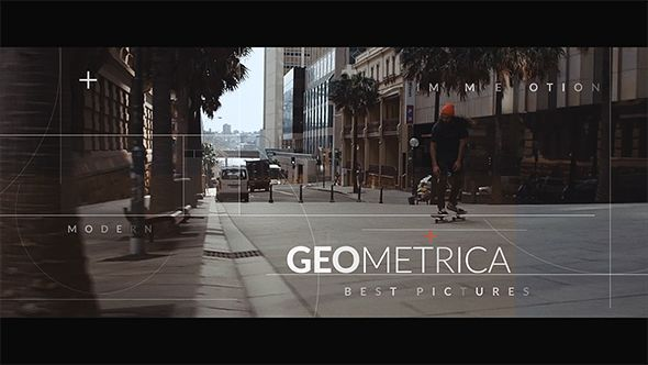 Geometrica Opening Titles Template Adobe And Fonts - Adobe after effects title templates