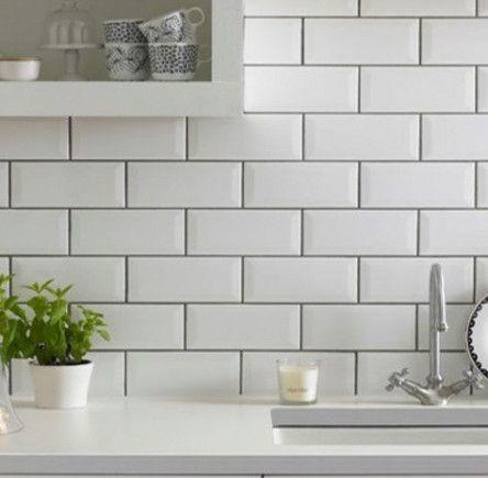 62 Super Ideas Kitchen White Tiles Grey Grout Master Bath White Kitchen Tiles Kitchen Wall Tiles Kitchen Tiles Design