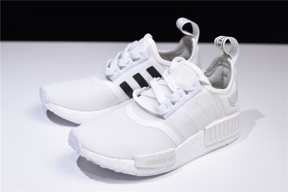 hot sale online 1c95b e79ee New adidas NMD R1 Primeknit White Black CQ2411 | New adidas ...
