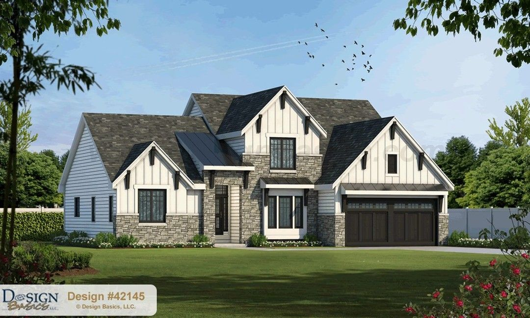 The Hannan 42415 This Week S Plan Spotlight Features A Spacious Open Living And Dining Ar Farmhouse Style House Plans Craftsman House Craftsman House Plan