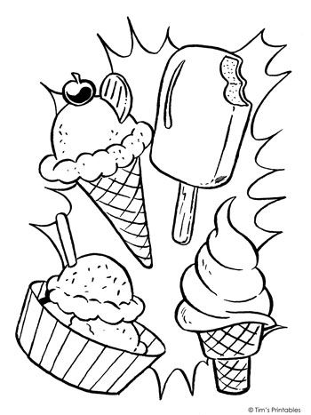 Ice Cream Coloring Page Tim S Printables Ice Cream Coloring Pages Coloring Pages For Kids Summer Coloring Pages