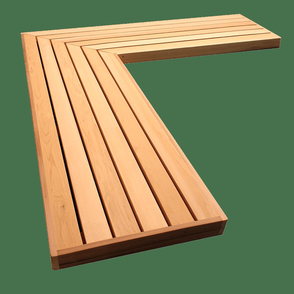Cedar L Shaped Garden Bench Seat – Wooden garden benches