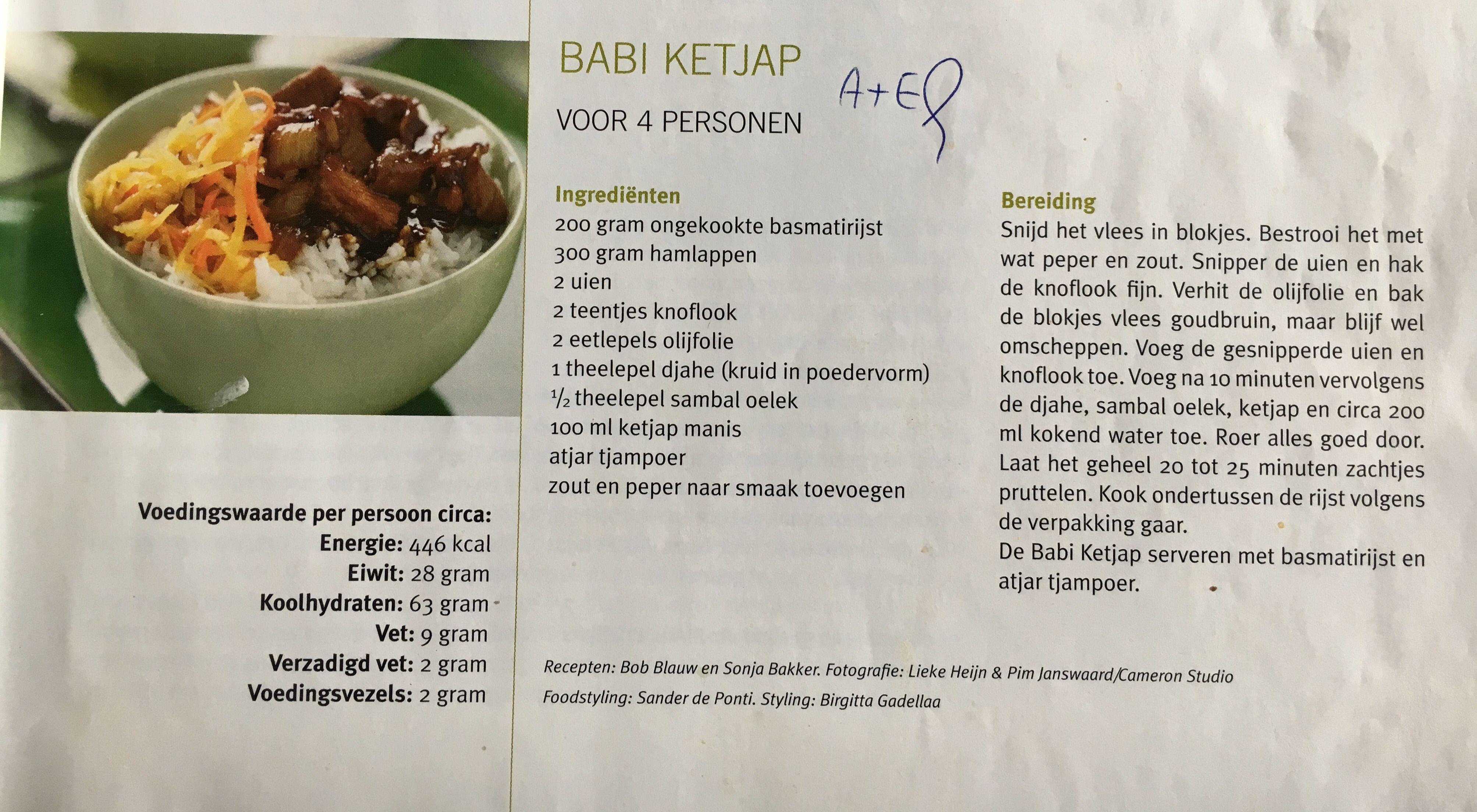 Sonja Bakker Babi Ketjap Voedsel Ideeen Gezonde Recepten Dieetvoeding