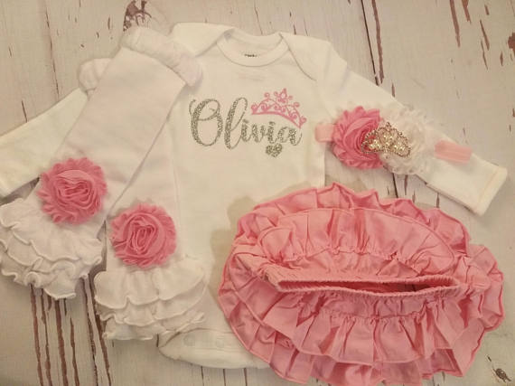 Baby Girl Coming Home Outfit Baby Girl Clothes Personalized