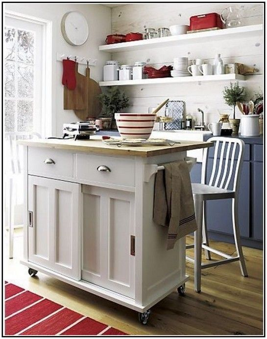 Real Simple Kitchen Ideas Gorgeous Crate Barrel Somerset Kitchen Island With Small Rubber Cas Kitchen Design Contemporary Kitchen Island White Kitchen Island