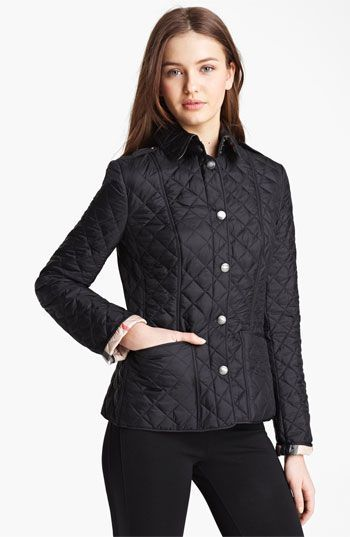Burberry Brit 'Kencott' Patch Pocket Quilted Coat available at ... : nordstrom burberry quilted jacket - Adamdwight.com