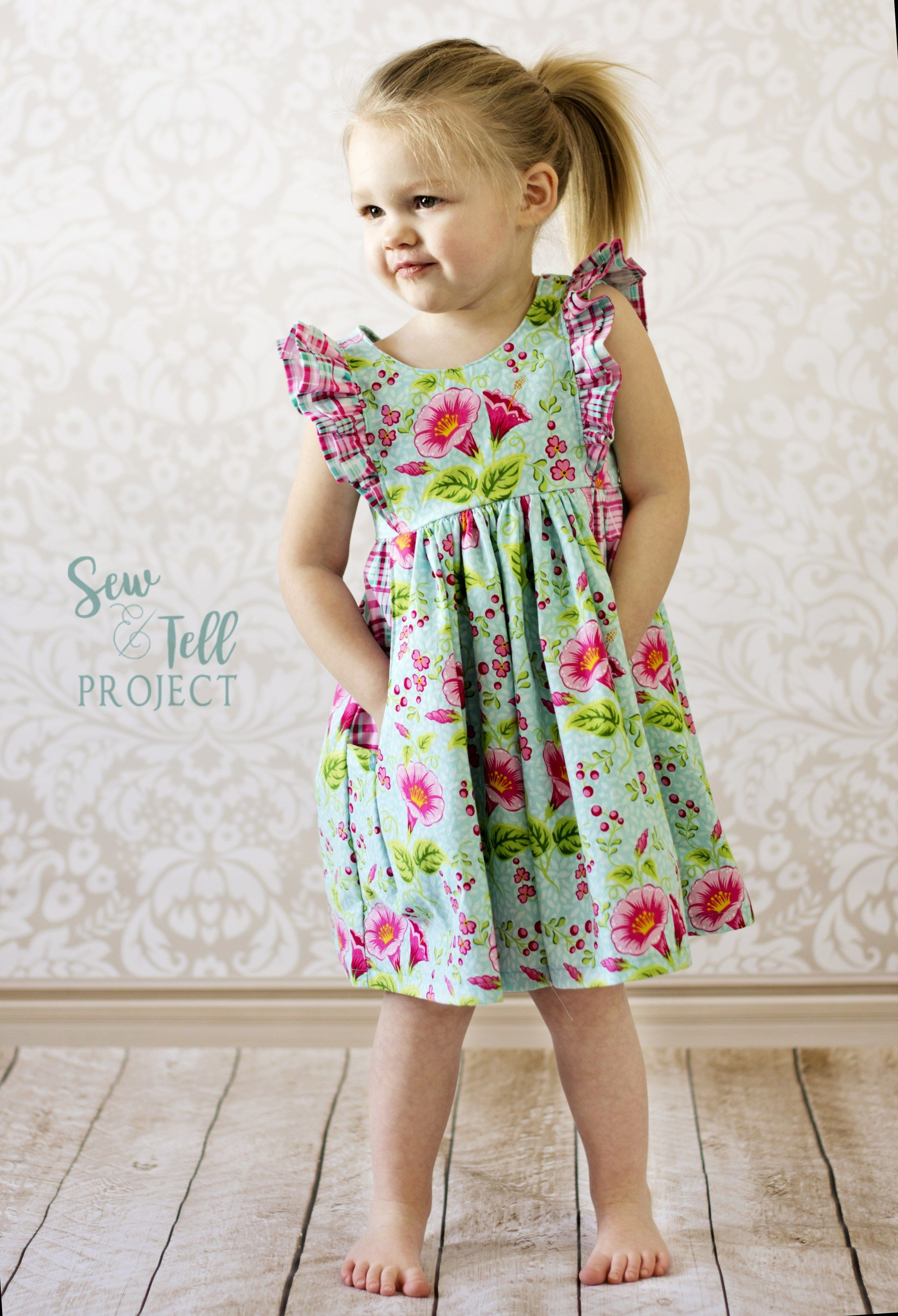 Bold And Beautiful In The Simple Life Patterns Jaimesyn Dress The Sew And Tell Project Toddler Dress Patterns Kids Dress Childrens Clothes