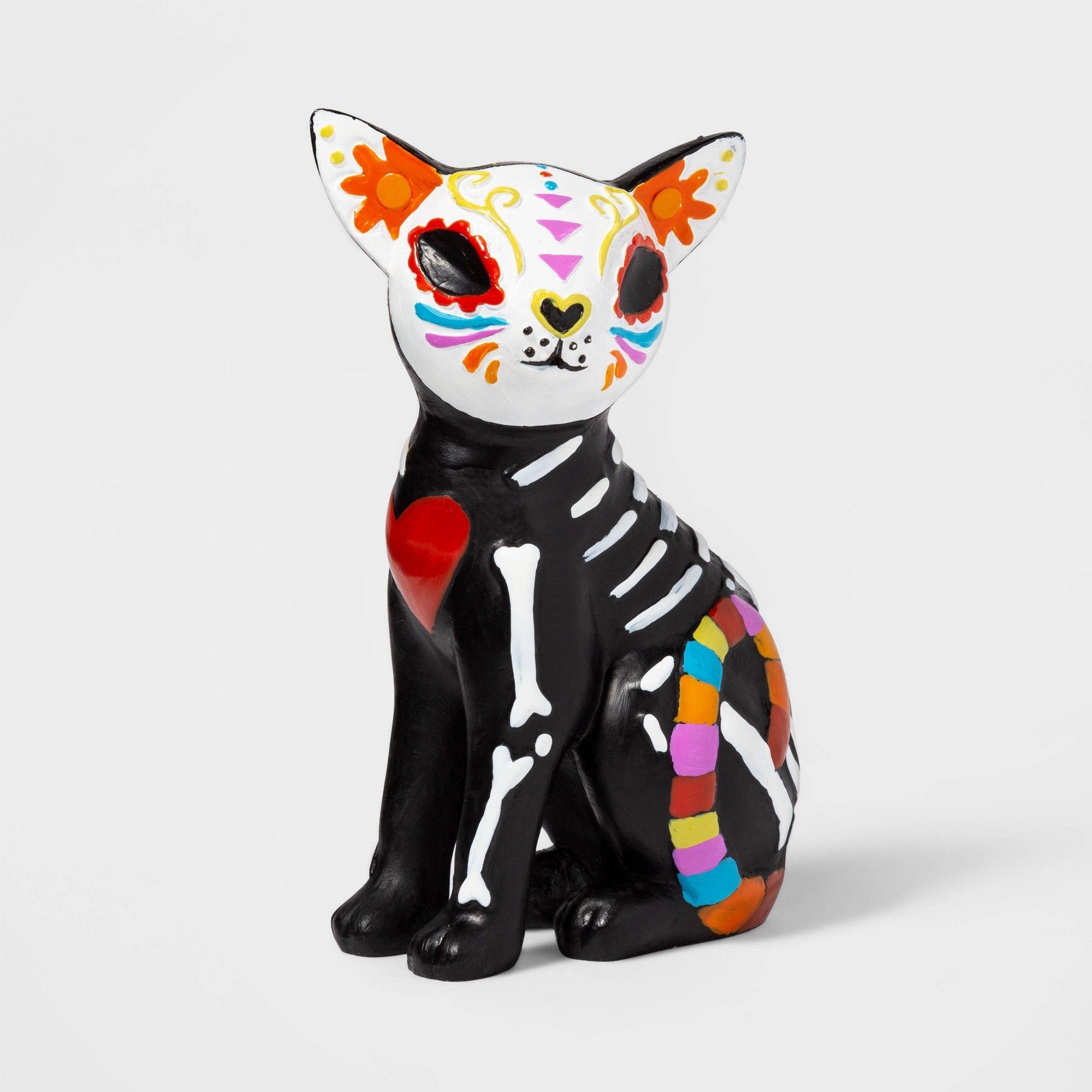 Halloween Día de Muertos Cat Decorative Figure Hyde and