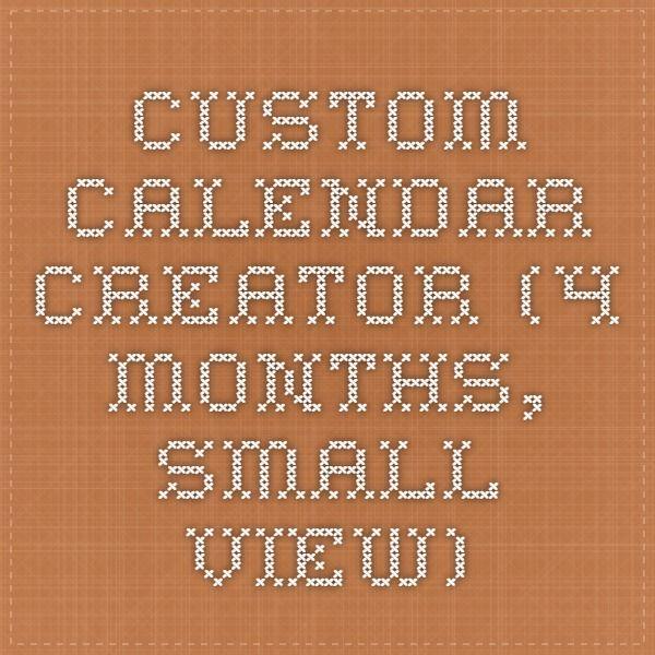 calendar creator free