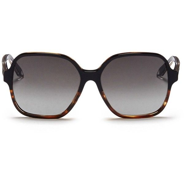 db58d40d0bc Victoria Beckham  Iconic Square  tortoiseshell acetate oversize... ( 440) ❤  liked on Polyvore featuring accessories