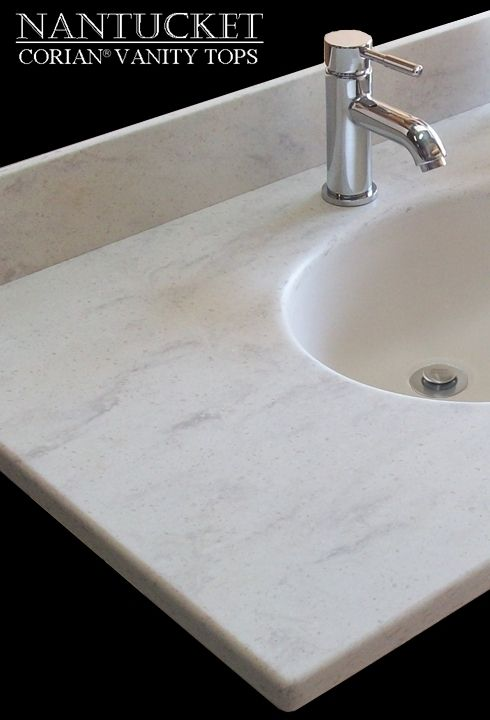 Bathroom Vanity Top In Corian Clam Shell Found On NANTUCKET Vanity - Bathroom vanity websites