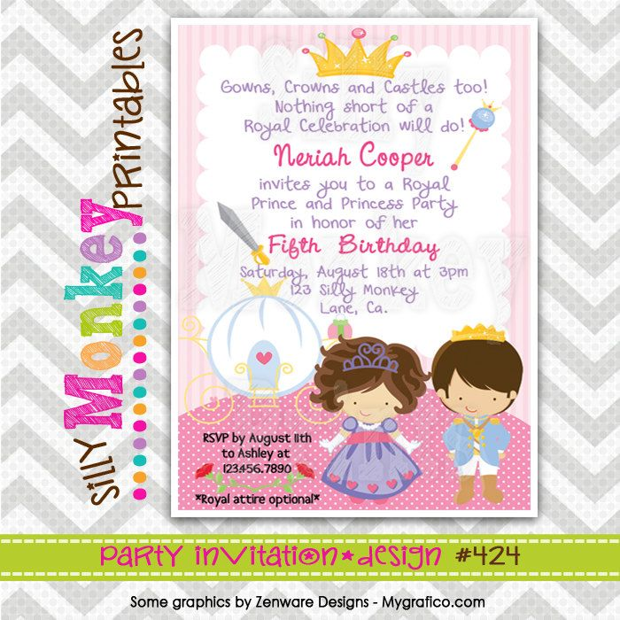 Diy Princess Party Invitations Gallery - invitation templates free ...
