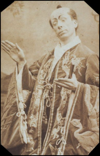 "George Grossmith as Ko-Ko in the original DOC production of ""The Mikado"" in 1885."