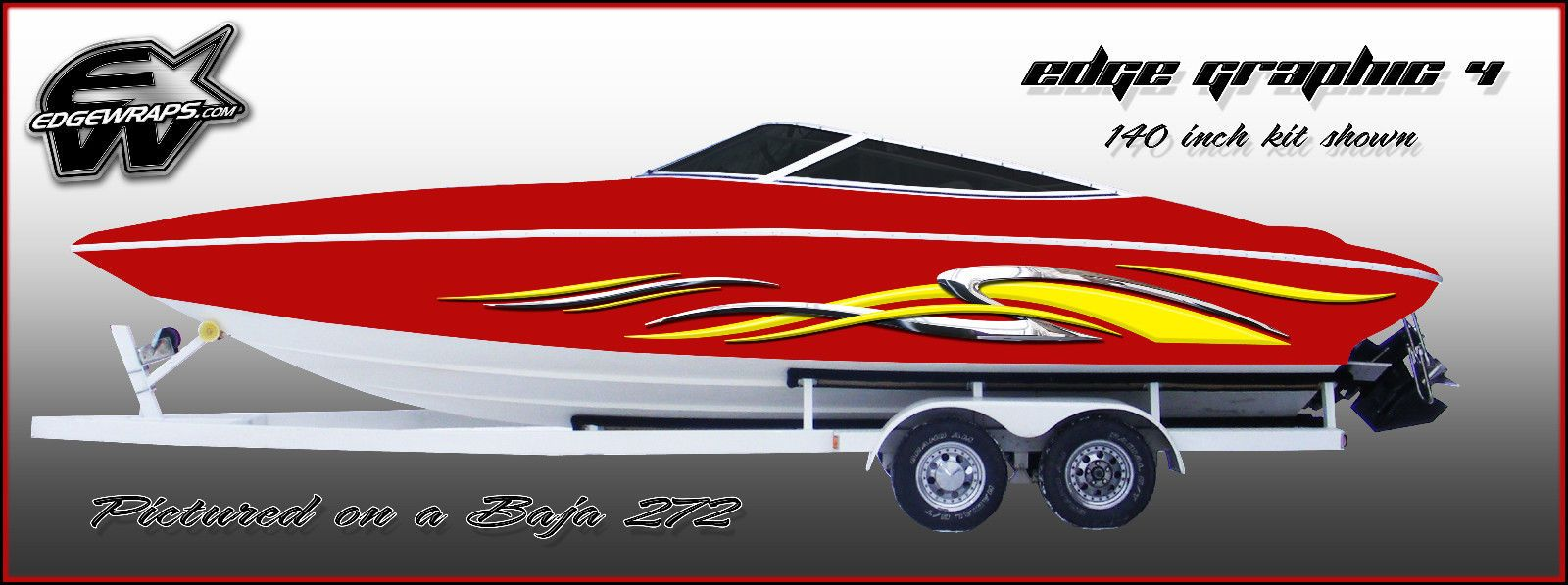 Inlcudes Two Panels One For Each Side All Our Edge Graphics Are Custom Designed And Made In House And Sizes And Can Be Custom M Boat Brands Boat Wraps Boat