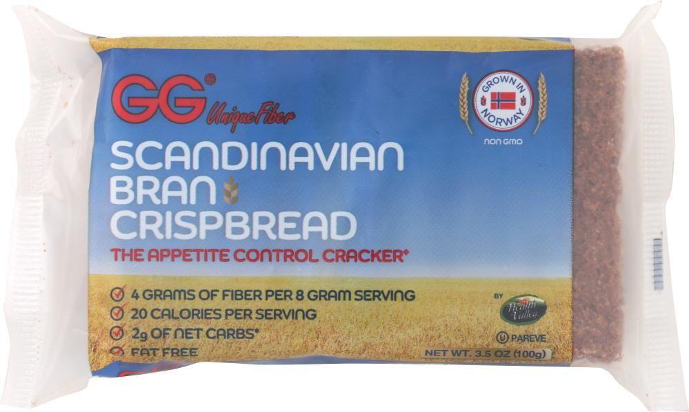 Gg Unique Fiber Scandinavian Bran Crispbread 3 5 Oz Healthy Digestive System Fiber Bran
