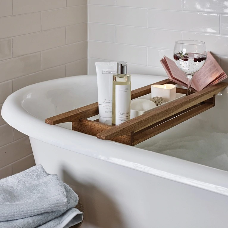 Wooden Bath Tidy Bathroom Accessories The White Company Us In