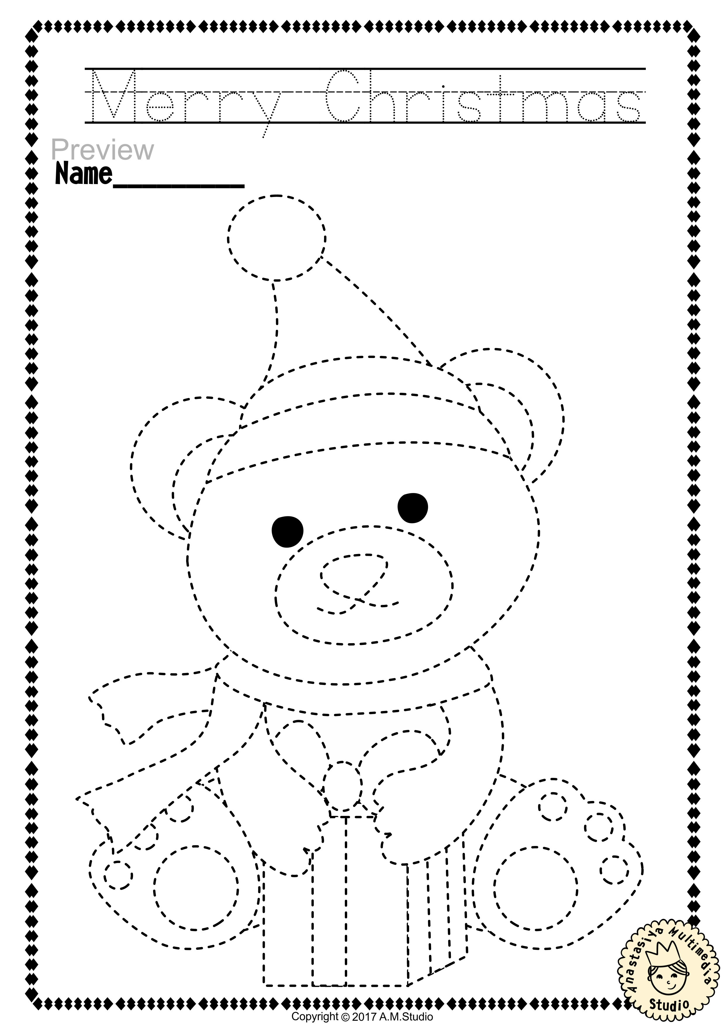 Christmas Trace and Color Pages {Fine Motor Skills + Pre-writing ...
