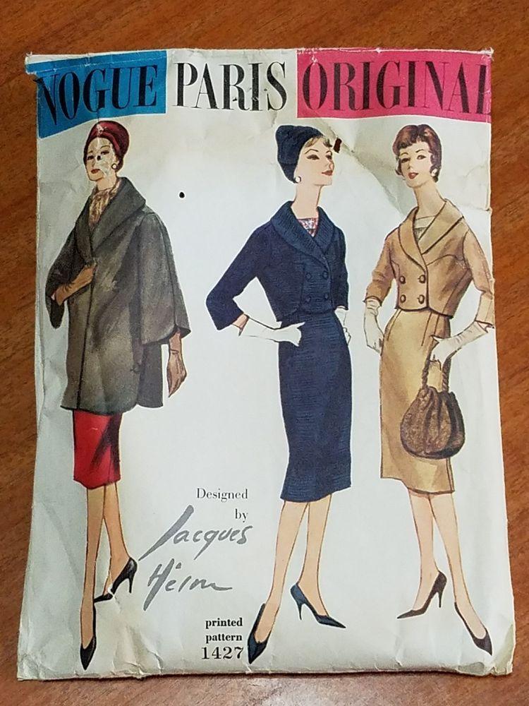 Vintage Vogue Paris Original Jacques Heim Coat Dress Suit Pattern ...
