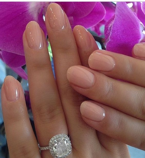 If You Want Your Acrylic Look Like Natural Nails Just Put Simple Color Or Clear Gels On Make Them Shorter French Tips Are Also Nice For